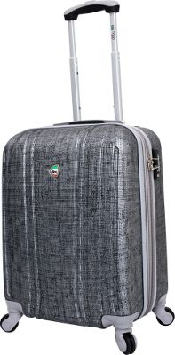 Mia Toro ITALY Macchiolina Abrasa Hardside 20 inch Spinner Carry-On Grey - Mia Toro ITALY Hardside Carry-On