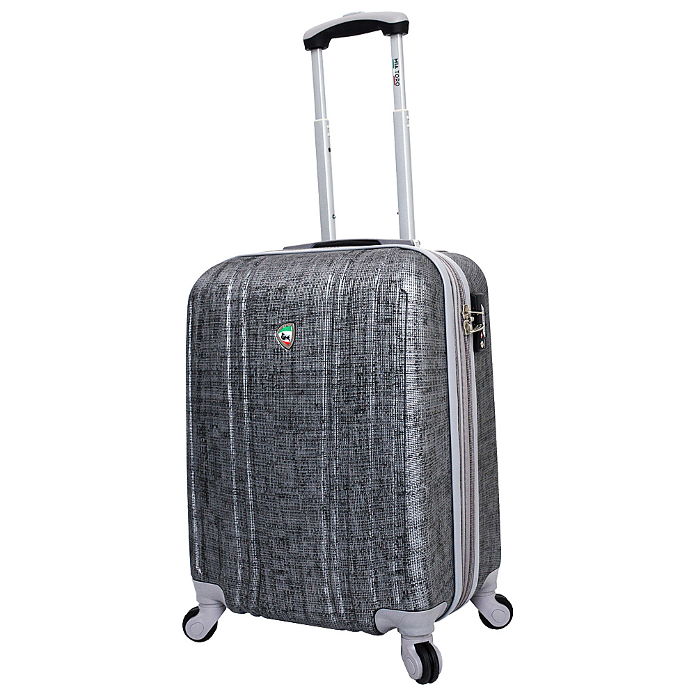 Mia Toro ITALY Macchiolina Abrasa Hardside 20 Spinner Carry On Grey Mia Toro ITALY Hardside Carry On