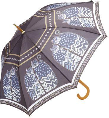 Laurel Burch Polka Dot Cats Umbrella Multi - Laurel Burch Umbrellas and Rain Gear