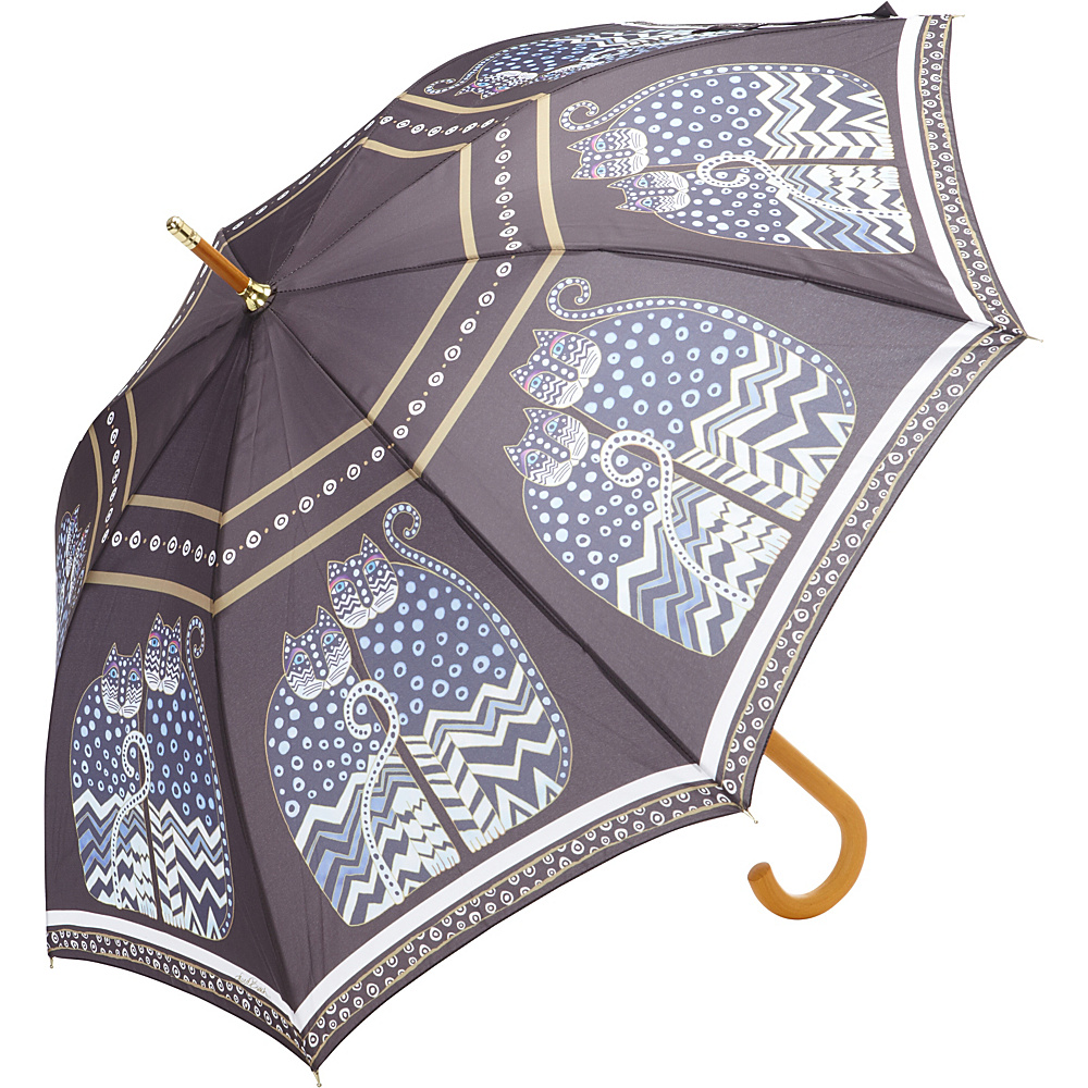 Laurel Burch Polka Dot Cats Umbrella Multi Laurel Burch Umbrellas and Rain Gear