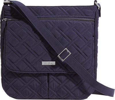 Vera Bradley Double Zip Mailbag - Solids Classic Navy - Vera Bradley Fabric Handbags