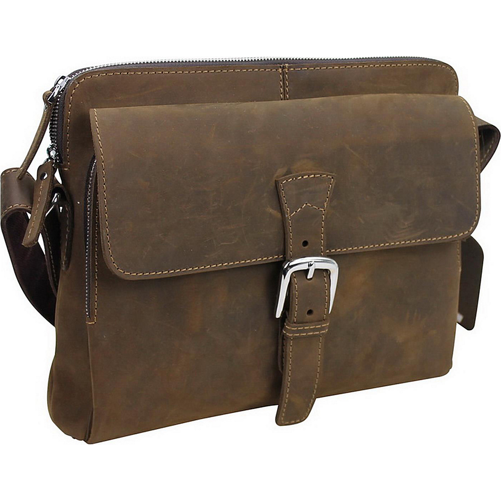 Vagabond Traveler 13 Leather Messenger Bag Distress - Vagabond Traveler Messenger Bags - Work Bags & Briefcases, Messenger Bags