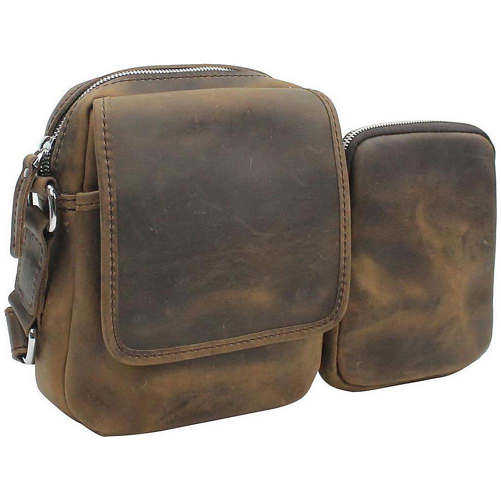 Vagabond Traveler 8.5 Leather Parent-Child Shoulder Bag Vintage Brown - Vagabond Traveler Leather Handbags - Handbags, Leather Handbags