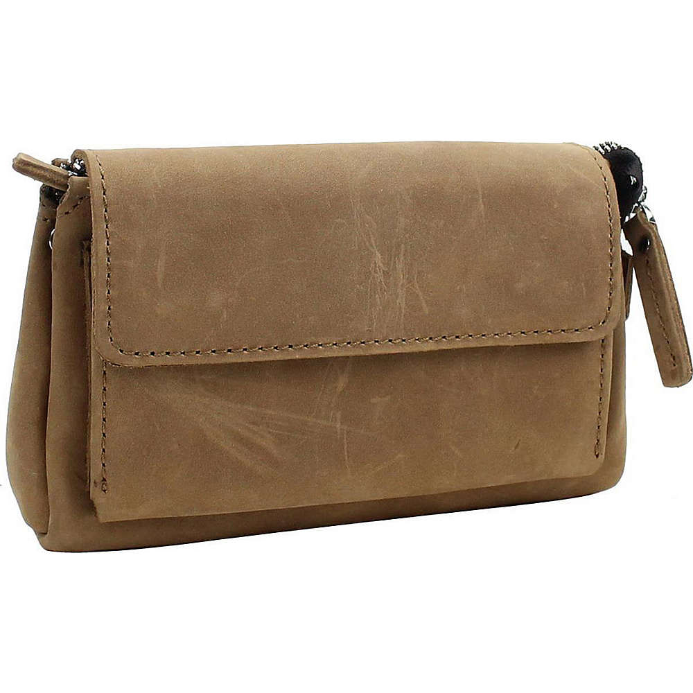 Vagabond Traveler 8.5 Large Leather Clutch Bag Nature Brown - Vagabond Traveler Leather Handbags - Handbags, Leather Handbags
