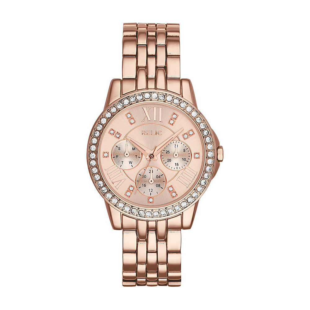 Relic Layla Multifunction Stainless Steel Watch Rose Gold Relic Watches