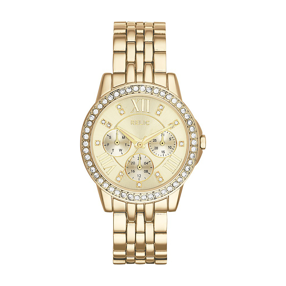 Relic Layla Multifunction Stainless Steel Watch Gold Relic Watches