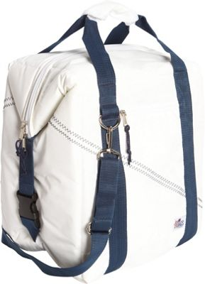 SailorBags 24-pack Soft Cooler Bag White/Blue - SailorBags Travel Coolers
