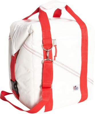 SailorBags 24-pack Soft Cooler Bag White/Red - SailorBags Travel Coolers