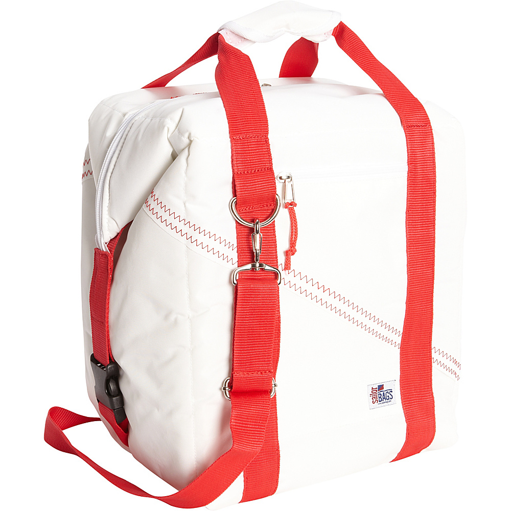 SailorBags 24 pack Soft Cooler Bag White Red SailorBags Travel Coolers