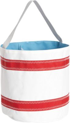 SailorBags Bucket Bag White/Red - SailorBags All-Purpose Totes