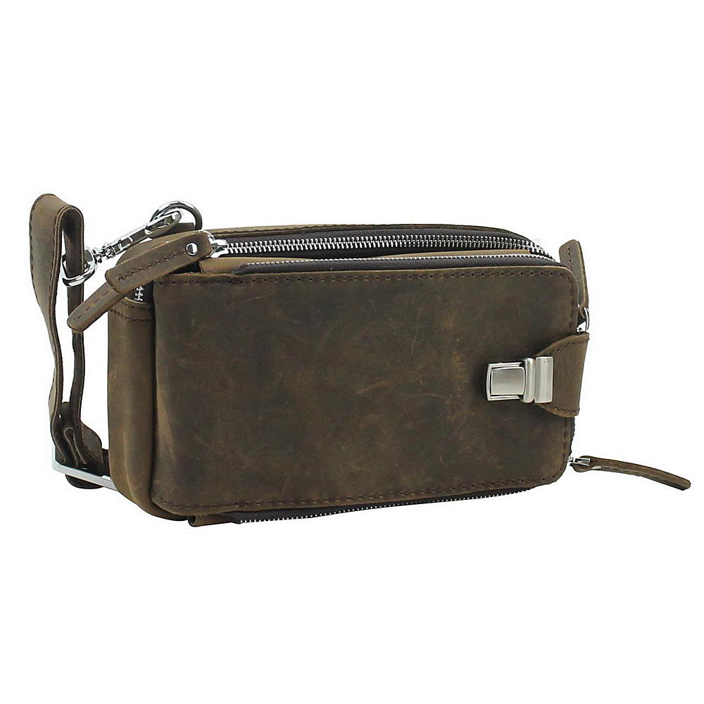 Vagabond Traveler 9 Leather Shoulder Bag Dark Brown - Vagabond Traveler Other Mens Bags - Work Bags & Briefcases, Other Men's Bags