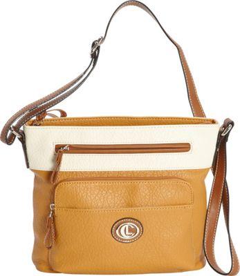 Aurielle-Carryland Horizon Crossbody Tan/Ivory - Aurielle-Carryland Manmade Handbags