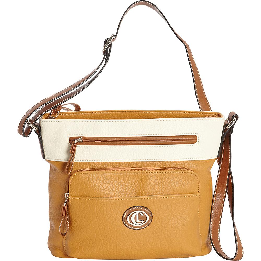 Aurielle Carryland Horizon Crossbody Tan Ivory Aurielle Carryland Manmade Handbags