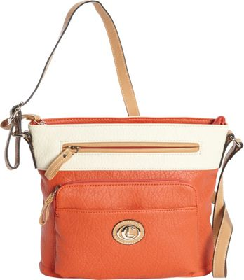 Aurielle-Carryland Horizon Crossbody Poppy/Ivory - Aurielle-Carryland Manmade Handbags