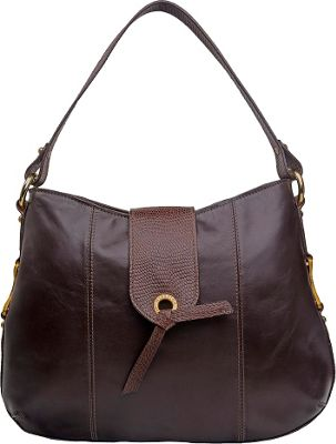 Hidesign Indus Medium Shoulder Bag Brown - Hidesign Leather Handbags