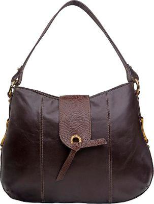 Hidesign Indus Medium Shoulder Bag Brown - Hidesign Leather Handbags