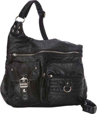 Ampere Creations The Emily Crossbody Black - Ampere Creations Manmade Handbags