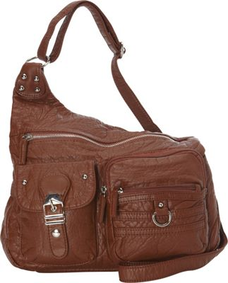 Ampere Creations The Emily Crossbody Brown - Ampere Creations Manmade Handbags