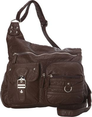 Ampere Creations The Emily Crossbody Chocolate Brown - Ampere Creations Manmade Handbags