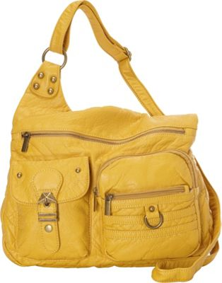 Ampere Creations The Emily Crossbody Yellow - Ampere Creations Manmade Handbags