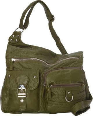 Ampere Creations The Emily Crossbody Army Green - Ampere Creations Manmade Handbags