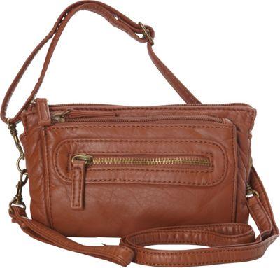 Ampere Creations The Anita Three Way Crossbody Wristlet Bag Brown - Ampere Creations Manmade Handbags