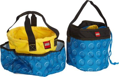 LEGO Big Toy Bucket & Blue Cinch Bucket Combo Blue - LEGO All-Purpose Totes