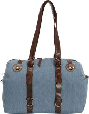 Journey Collection by Annette Ferber Milan Shoulder Bag Demin / Leather - Journey Collection by Annette Ferber Fabric Handbags