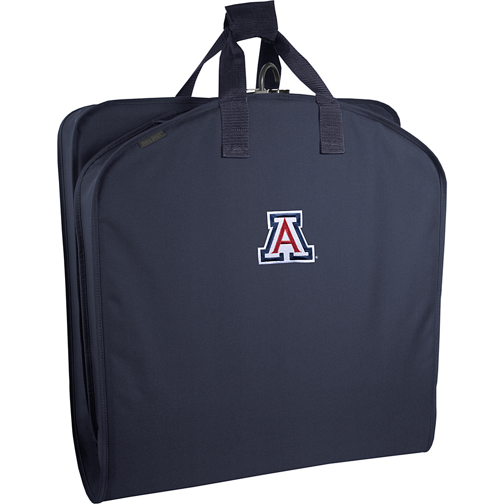 "Wally Bags Arizona Wildcats 40"" Suit Length Garment Bag with Handles Navy - Wally Bags Garment Bags"
