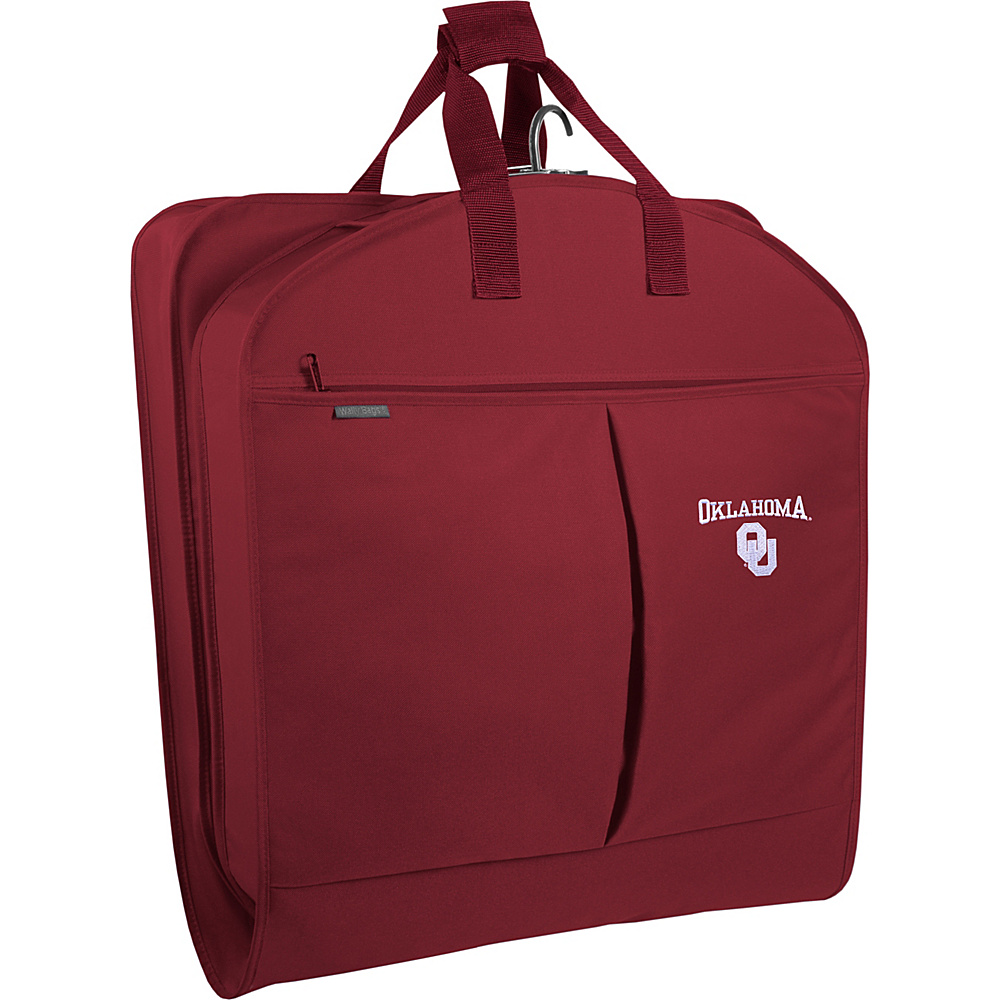 "Wally Bags Oklahoma Sooners 40"" Suit Length Garment Bag with Two Pockets Red - Wally Bags Garment Bags"