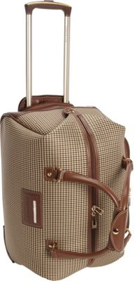 London Fog Cambridge 20 inch Wheeled Club Bag Olive Plaid Houndstooth - London Fog Rolling Duffels