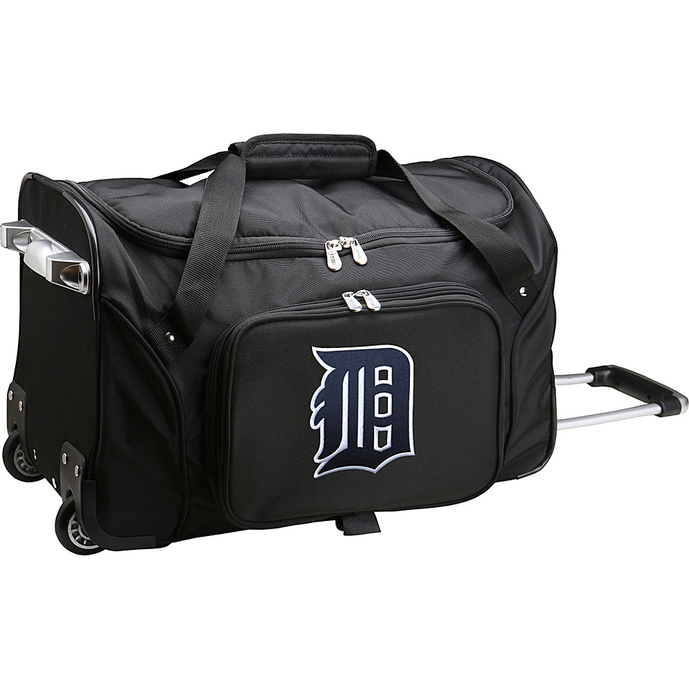 Denco Sports Luggage MLB 22 Rolling Duffel Detroit Tigers - Denco Sports Luggage Rolling Duffels - Luggage, Rolling Duffels