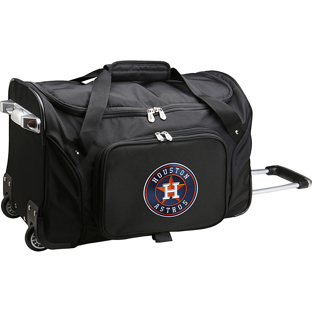 Denco Sports Luggage MLB 22 Rolling Duffel Houston Astros - Denco Sports Luggage Rolling Duffels - Luggage, Rolling Duffels