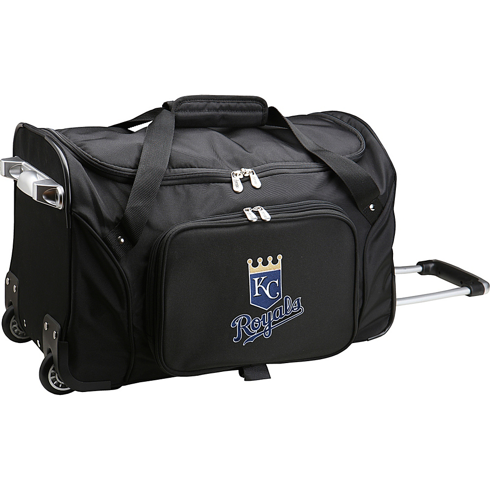 Denco Sports Luggage MLB 22 Rolling Duffel Kansas City Royals - Denco Sports Luggage Rolling Duffels - Luggage, Rolling Duffels