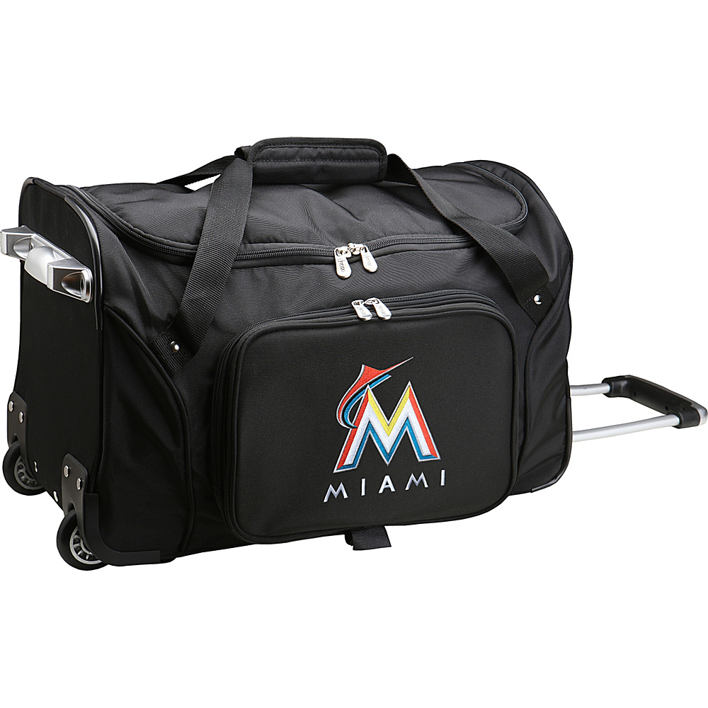 Denco Sports Luggage MLB 22 Rolling Duffel Miami Marlins - Denco Sports Luggage Rolling Duffels - Luggage, Rolling Duffels