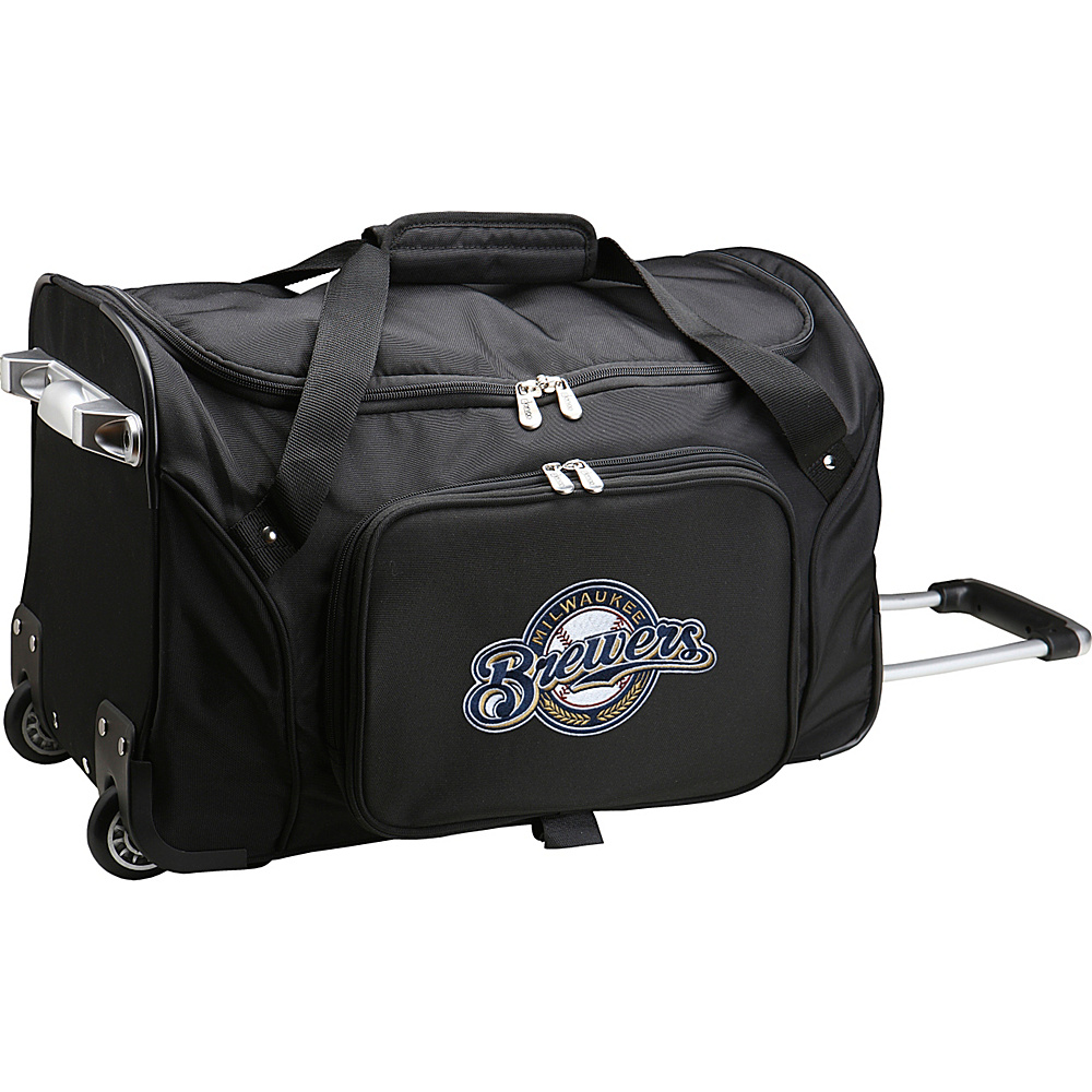 Denco Sports Luggage MLB 22 Rolling Duffel Milwaukee Brewers - Denco Sports Luggage Rolling Duffels - Luggage, Rolling Duffels
