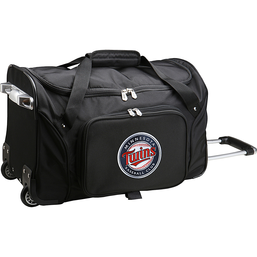 Denco Sports Luggage MLB 22 Rolling Duffel Minnesota Twins - Denco Sports Luggage Rolling Duffels - Luggage, Rolling Duffels
