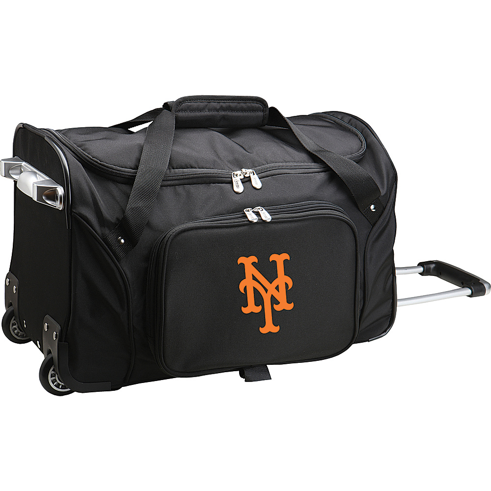 Denco Sports Luggage MLB 22 Rolling Duffel New York Mets - Denco Sports Luggage Rolling Duffels - Luggage, Rolling Duffels