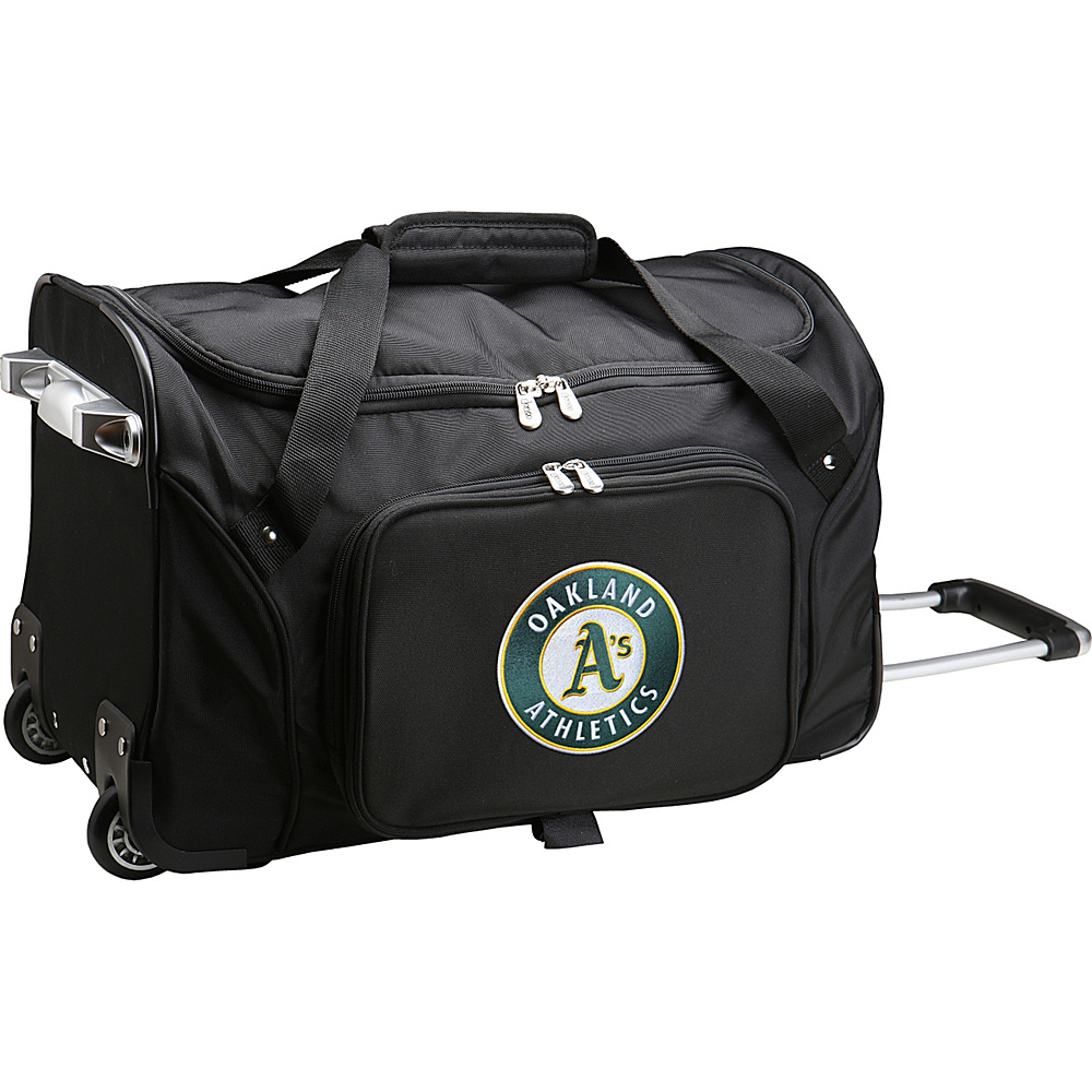 Denco Sports Luggage MLB 22 Rolling Duffel Oakland As - Denco Sports Luggage Rolling Duffels - Luggage, Rolling Duffels