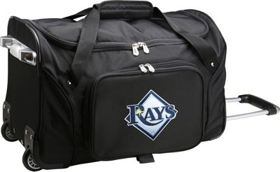 "Denco Sports Luggage MLB 22"""" Rolling Duffel Tampa Bay Rays - Denco Sports Luggage Rolling Duffels"" 10368853"