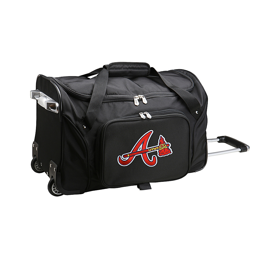 Denco Sports Luggage MLB 22 Rolling Duffel Atlanta Braves - Denco Sports Luggage Rolling Duffels - Luggage, Rolling Duffels