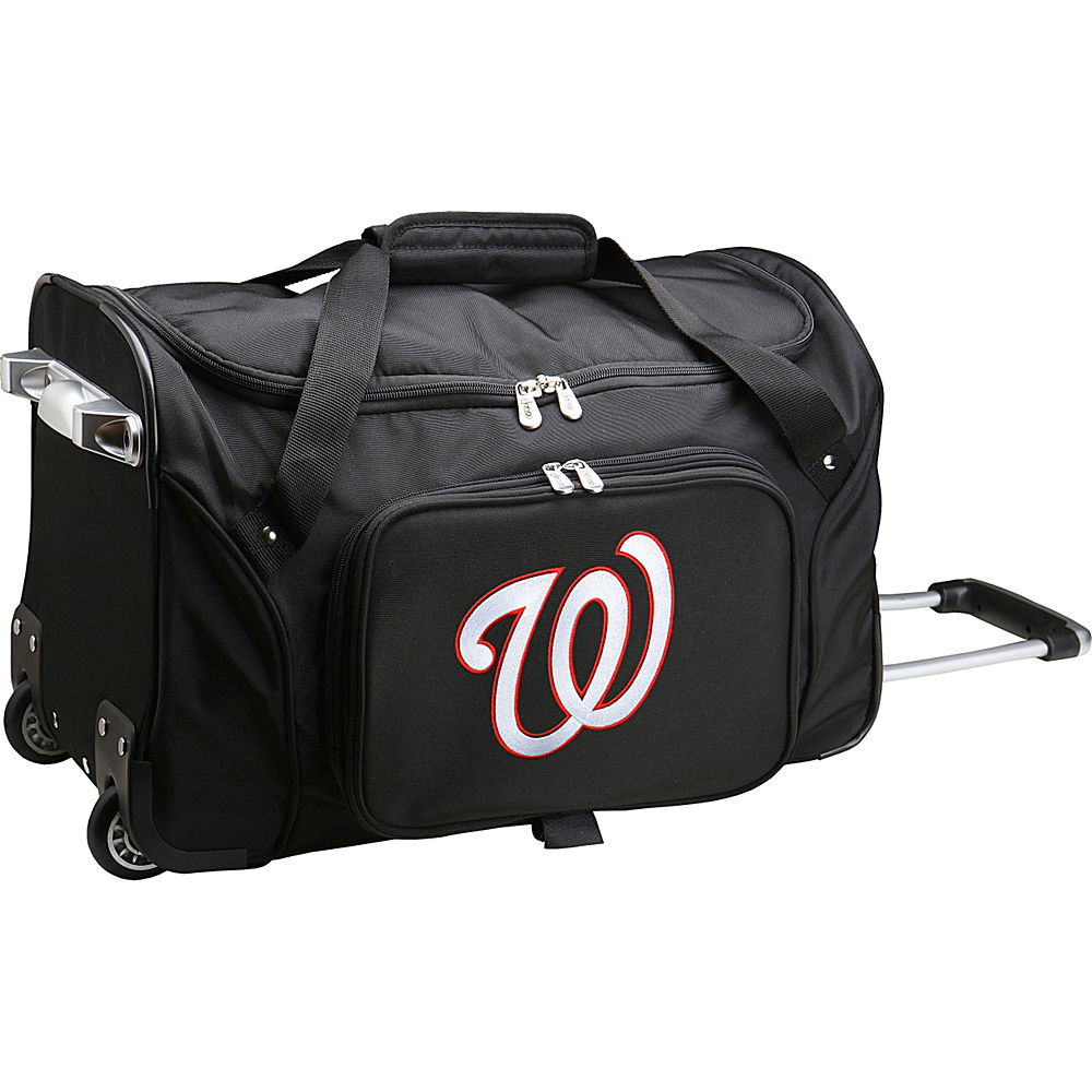 Denco Sports Luggage MLB 22 Rolling Duffel Washington Nationals - Denco Sports Luggage Rolling Duffels - Luggage, Rolling Duffels