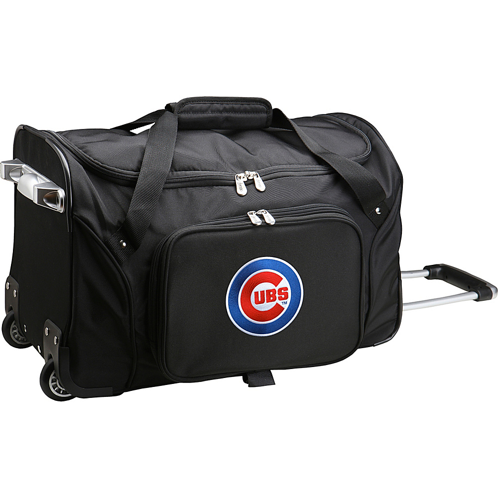 Denco Sports Luggage MLB 22 Rolling Duffel Chicago Cubs - Denco Sports Luggage Rolling Duffels - Luggage, Rolling Duffels