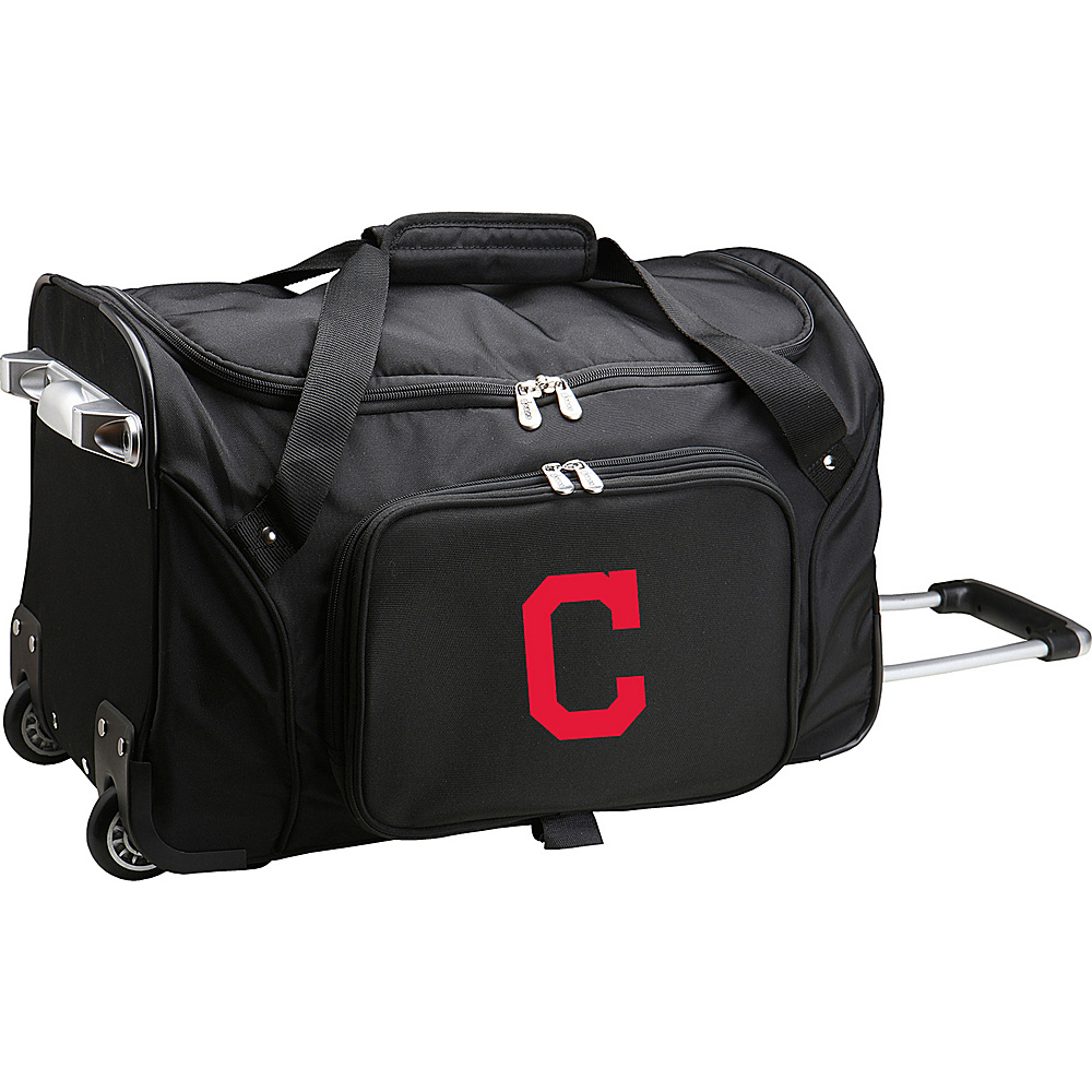 Denco Sports Luggage MLB 22 Rolling Duffel Cleveland Indians - Denco Sports Luggage Rolling Duffels - Luggage, Rolling Duffels