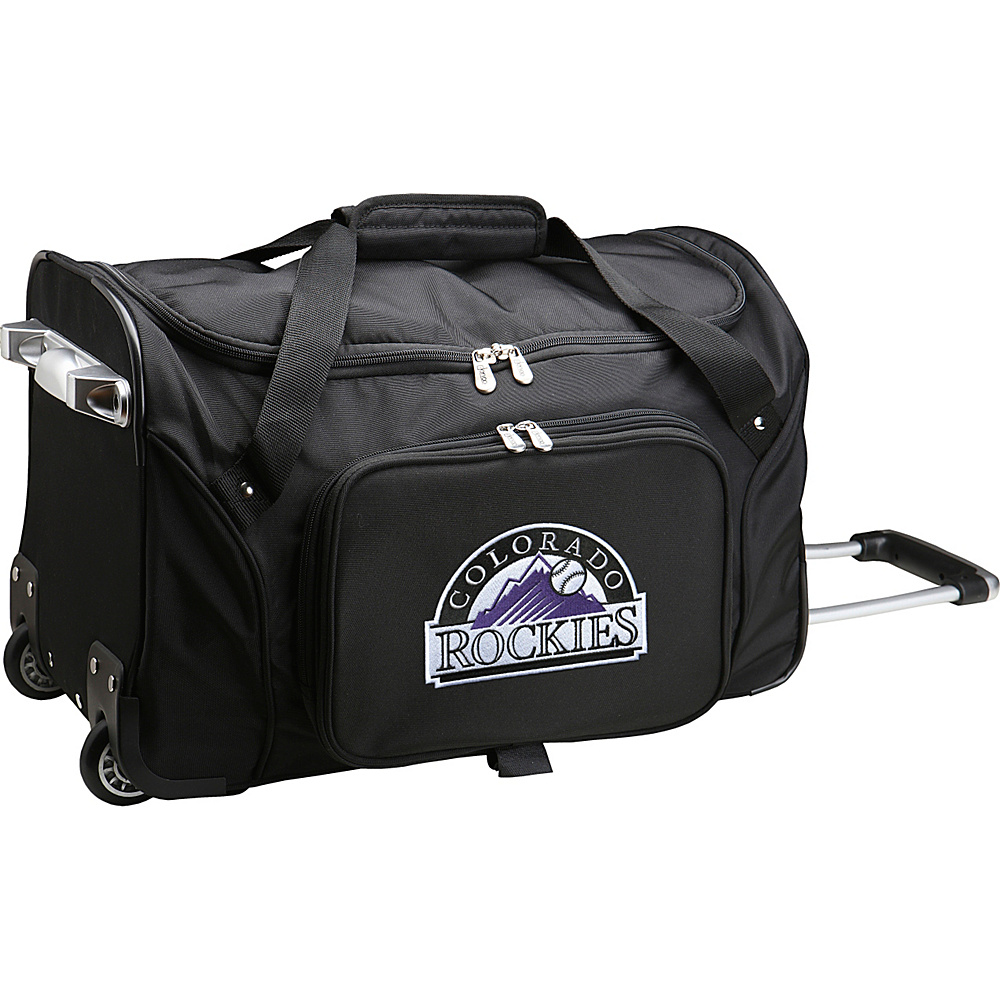 Denco Sports Luggage MLB 22 Rolling Duffel Colorado Rockies - Denco Sports Luggage Rolling Duffels - Luggage, Rolling Duffels