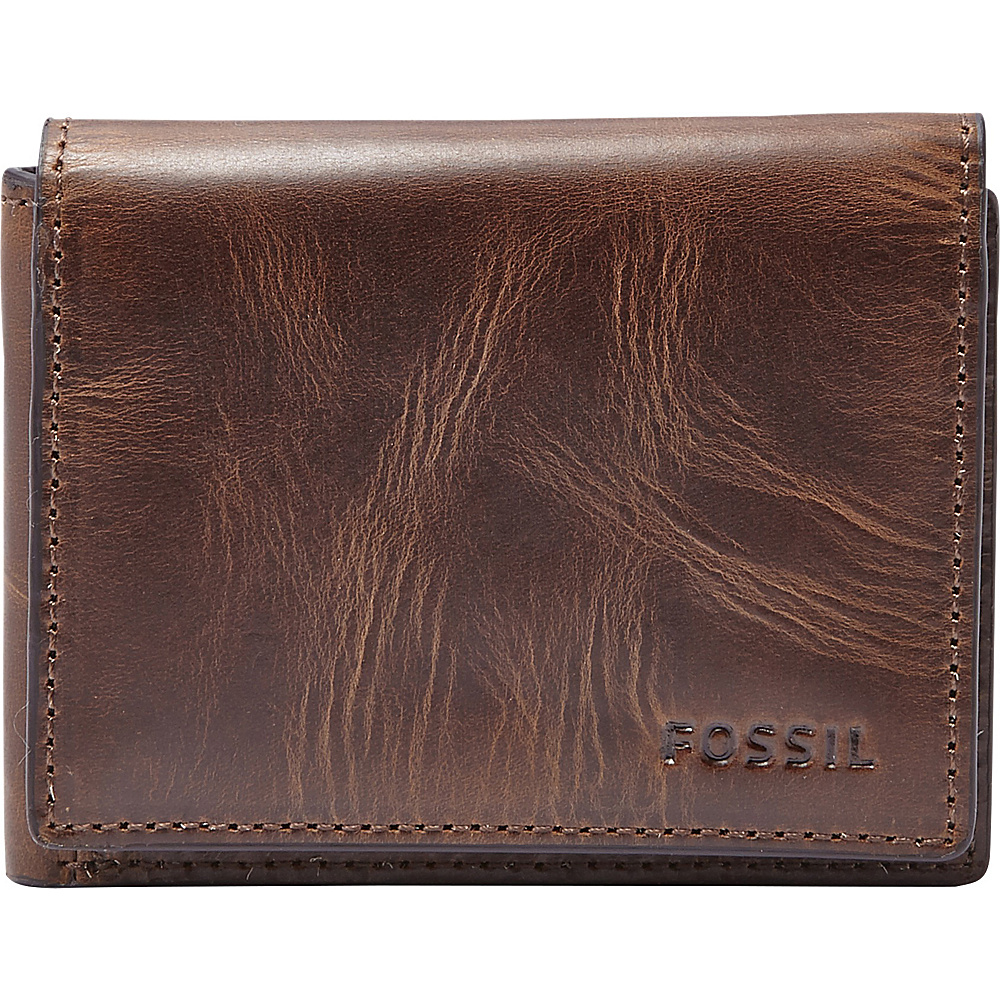 Fossil Derrick Execufold Dark Brown - Fossil Mens Wallets - Work Bags & Briefcases, Men's Wallets