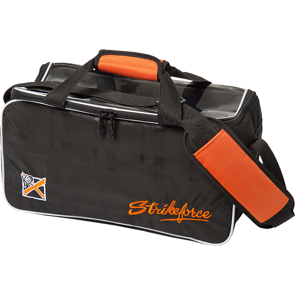 KR Strikeforce Bowling Krush Orange Double Tote Black Orange KR Strikeforce Bowling Bowling Bags