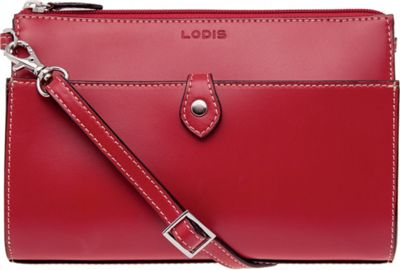 Lodis Audrey Vicky Convertible Crossbody Clutch - Discontinued Colors Red - Lodis Leather Handbags