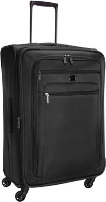 Delsey Helium Sky 2.0 25 inch Exp. Spinner Trolley Black - Delsey Softside Checked