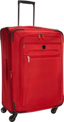 Delsey Helium Sky 2.0 25 inch Exp. Spinner Trolley Red - Delsey Softside Checked
